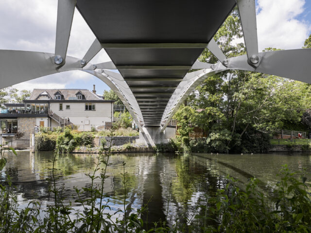 Abutment view of the Lower Thames footbridge