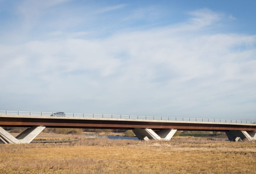 Sunny daytime view of Ely Bypass